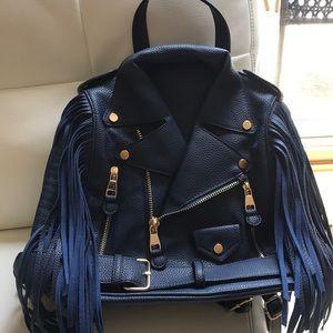Handbags - Navy Blue Backpack / Purse